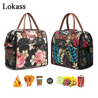 Lokass Lunch Bag Insulated Cooler Lunch Box Wide-Open Lunch Tote Box Work Picnic