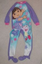 Girls size 6 Nickelodeon Dora the Explorer one piece children pajamas smoke free