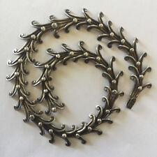 Vintage Mexico Silver Modernist Necklace Los Castillo Style 48 Grams 15'' Long