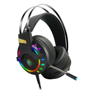 Gaming Headset LED USB Wired Gamer Headphones With Mic For PC Laptop PS4 Xbox