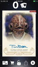 Topps Star Wars Digital Card Trader Galactic Heritage Blue TFA Ackbar Signature