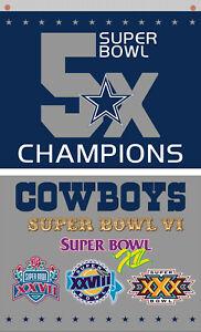 Dallas Cowboys football 5x Champions Memorable flag 90x150cm 3x5ft best banner