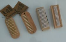 "Nail Scrubbing Brushes;Wooden Double Sided Pedicure Manicure Cleaner, ""CARESS"""