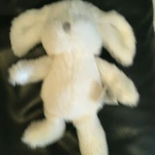 Izziwotnot Tiny White Dog Plush Soft Toy Comforter - see other items clear out
