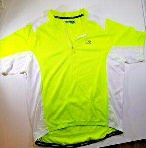 Nishiki Cycling Jersey Men's XL 1/4 Zip Yellow/White Color Mesh High Visibility
