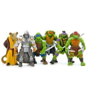 6Pcs Teenage Mutant Ninja Turtles TMNT Action Figures Collection Toys Set- @