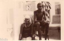 BJ490 Carte Photo vintage card RPPC enfant maillot de bain jeune fille et garçon
