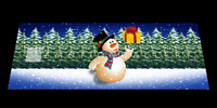 SNOWMAN   3D MOTION  BOOKMARK  BY EMOTION GALLERY  -BM-060