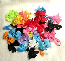 "35 Pcs ""Grab Bag"" Baby Toddler Girl elastic headband headwear Hair Bow Random"