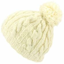 37f824e14c1 Beanie Hat Cap Bobble White Fleck Warm Winter Lined LoudElephant Acrylic  Knit