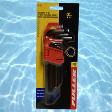Fuller Pro 9 Pce Long Arm Hex Allen Key Imperial Set Allan