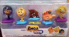 *The Emoji Movie* COLLECTIBLE FIGURES 5 PACK- poop, smiler, gene, jailbreak hi-5