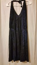 Mark - Avon - Blue and Black Halter Dress Size L         *KT7/