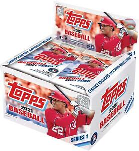 2021 Topps Baseball Series 1 Factory Sealed 24 Pack Retail Display Box