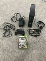 Microsoft Xbox 360 Slim 4GB Black Console Bundle With 1 game + 1 Controller