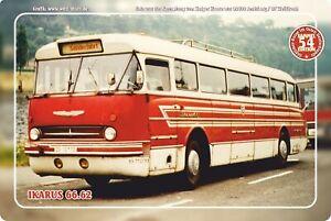 "Blechschild 20x30cm ""Oldtimer-Busse im Osten - Ikarus 66.62"" Nr. 54"