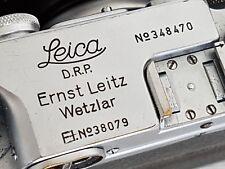 Leica Military IIIb 1939-40 #348470 Luftwaffen Eigentum Fl38079 w Elmar 5cm f3.5