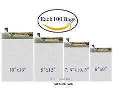 400 Poly Mailers Shipping Bags Each 100 6x9 75x105 9x12 10x13 St Shipmailers