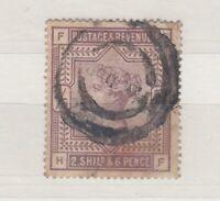 GB QV 1883 2s 6d Lilac SG178 Fine Used J4326