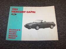 1991 Mercury Capri Convertible Electrical Wiring & Vacuum Diagram Manual XR2 1.6