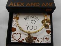 Alex and Ani Because I Love You FRIEND III Bracelet Rafaelian Gold NWTBC