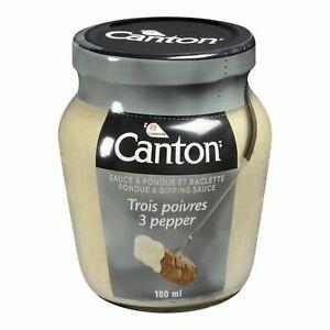 6 X Canton 3 Pepper Fondue Sauce 180 ml/ 6oz - From Canada - FRESH & DELICIOUS!