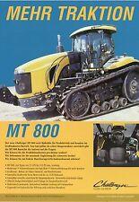 Prospekt Challenger MT 800 2004 Trecker Traktor Schlepper Raupe brochure tractor