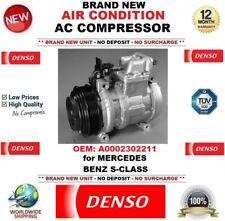 DENSO New Air Condition AC COMPRESSORE OEM: A0002302211 per MERCEDES BENZ CLASSE S