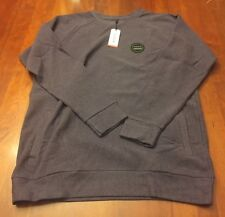 Nixon Mens Dunes Crew Sweatshirt Deep Purple Heather X-Large XL *New With Tags*