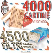 4500 FILTRI RIZLA SLIM 6mm + 4000 CARTINE BRAVO REX CORTE REGULAR FINISSIME