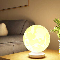 3D Moon Ball Table LED Lamp Night Light Color Dimmable Desk Lamp Decor 13/16cm @