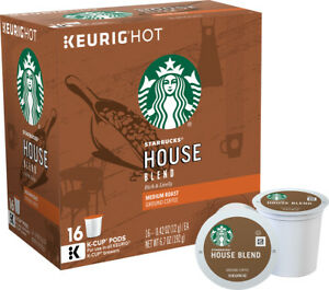 Starbucks House Blend Coffee 16 to 96 Count Keurig K cups Pick Any Quantity
