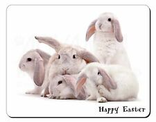 White Rabbits 'Happy Easter' Computer Mouse Mat Christmas Gift Idea, AR-5EAM