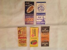 5 Different Root Beer Companies Advertising Match Packs