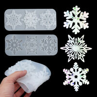 Tree Snowflakes Crystal Pendant Christmas Mold Silicone Mould Resin Molds