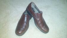 Mens Clarks Leather Loafer Slip On Shoe Size 8.5 Brown Comfort VGC!