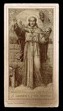 antico santino litografico- holy card S.LEONARDO DA PORTO MAURIZIO