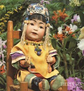 183 ea. Antique Dolls - Bisque Wax Wooden Papier-mache.../ Auction Book + Values