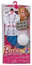 BARBIE I CAN BE PASTRY CUPCAKE CHEF BAKER CAREER FASHION PACK CHJ30 *NU*