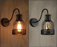 Retro Disc Lampshade Light Industrial Wall Lamp Bedroom Aisle Balcony Wall Light