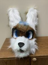 White Wolf Partial Fur Suit Furry Fursuit Cosplay Head Child Size New Handmade