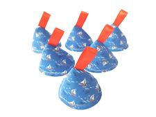 Pee Pee Teepee x6, Wee Stop Cone, Boy Baby Shower Gift / Yachts Nautical Sailing