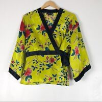 Vintage Spenser Jeremy 100% Silk Kimono Blouse Sz L