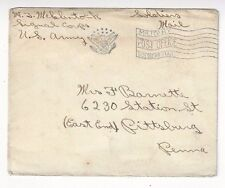 WWI US Army Signal Corps, Military Post Office Soldiers Mail FLAG