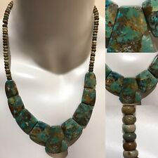 DR 925 Sterling Silver Graduated Turquoise Beaded Necklace w/Extender Chain