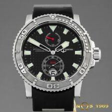 ULYSSE NARDIN  MAXI  MARINE DIVER  263-33  CHRONOMETER  S.STEEL   PAPERS
