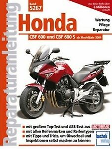 Manual de Servicio Instrucciones Honda CBF 600 Y CBF 600S DESDE 2004
