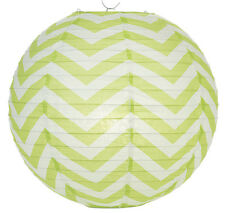14'' Chinese Japanese Paper Lantern Light Lime Chevron Home Wedding Party Decor