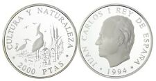 ESPAÑA: 2000 pesetas plata 1994 GARZAS IMPERIALES - Cultura y Naturaleza