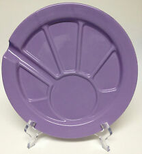 """Hoffritz Purple Fondue Party Dessert Plate Sectioned Divided 9 1/2"""""""